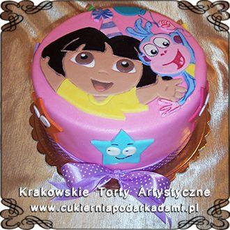 091. Dora the Explorer cake. Dora poznaje świat.