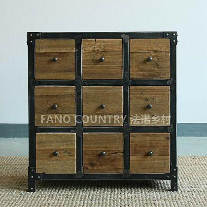 В американском стиле кованого железа шкаф шкафчики ретро чтобы сделать старый чердак чердак железа шкаф шкаф шкаф древесины - Taobao