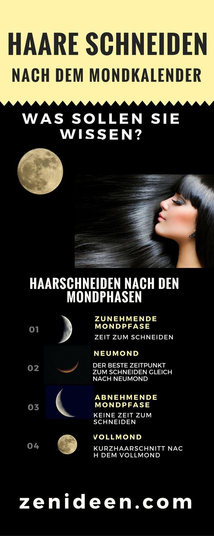 Infografik Haar schneiden nach dem Mond