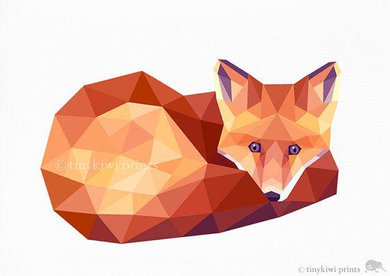 25 beste idee n over vos illustratie op pinterest for Minimal art kunst