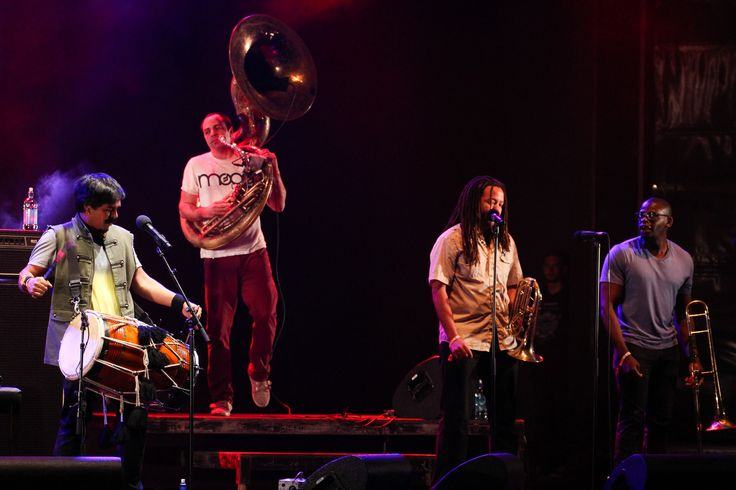 Photo Cred SImon O'Connor   Red Baraat at WOMAD 2014  #WOMADnz #WOMADartist