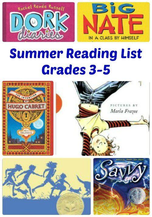 Terrific Summer Reading List for Kids in Grade 3, Grade 4 and Grade 5!  #kidlit