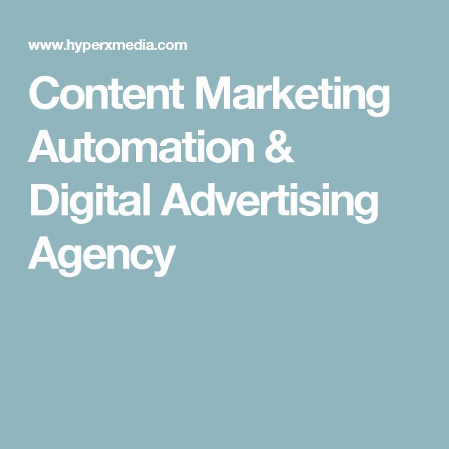 Content Marketing Automation & Digital Advertising Agency