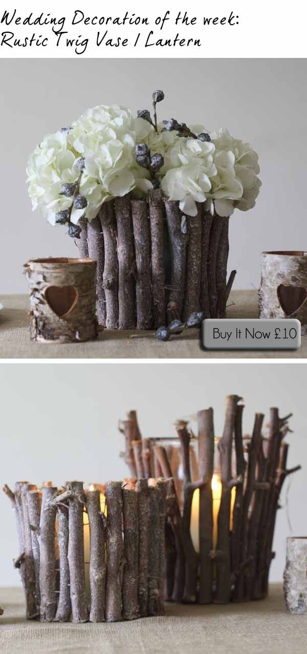 Woodland Wedding Centrepieces ~ Twig Vase / Lantern