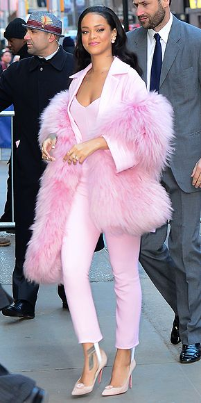 Rihanna wearing Pascal Millet... Celebrity jumpsuit trend, how to style a jumpsuit : People.com