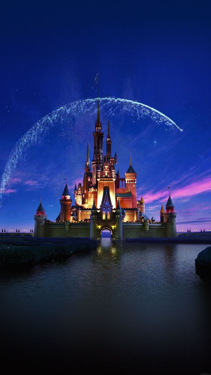 Cool Wallpaper Disney Castle Artwork Illust Sky Iphone6 Plus