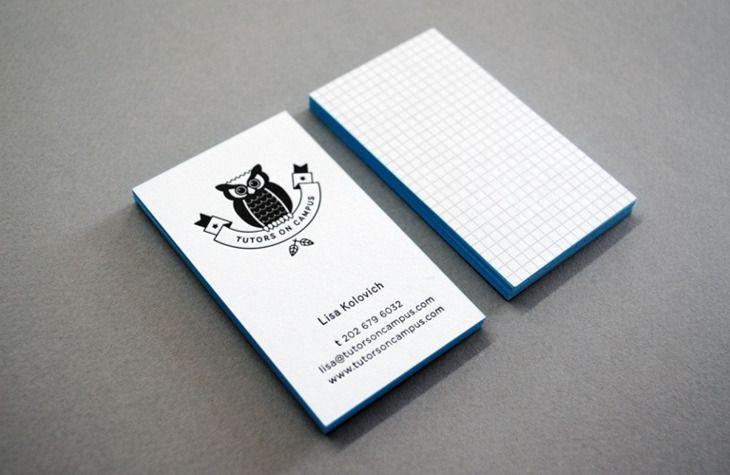 Tutors on Campus - Business Card Design Inspiration | Card Nerd