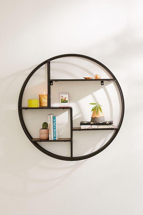Metal Wall Shelves Shelf Decor, Round Wall Shelf Decor Ideas