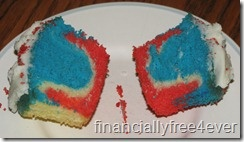 Super easy red, white and blue cupcakes. Would be great for Flag Day, Memorial Day or 4th of July!