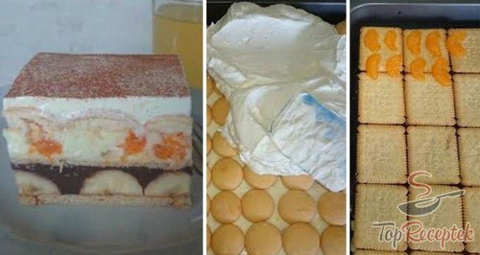 Fantasztikus sütés nélküli gyümölcsös szelet