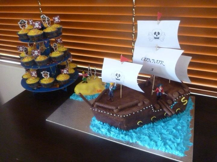 Pirate ship cake. Connor's 3rd birthday.