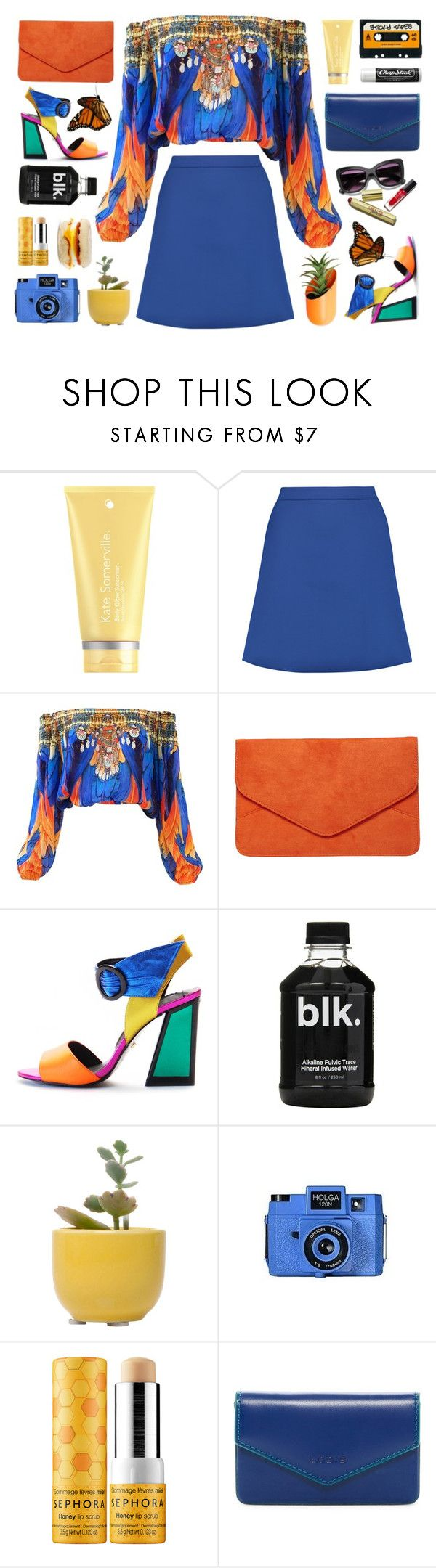 """""""Untitled #2039"""" by tinkertot ❤ liked on Polyvore featuring Kate Somerville, Être Cécile, Dorothy Perkins, Kat Maconie, Dot & Bo, Holga, Sephora Collection, Lodis, ASOS and Chapstick"""
