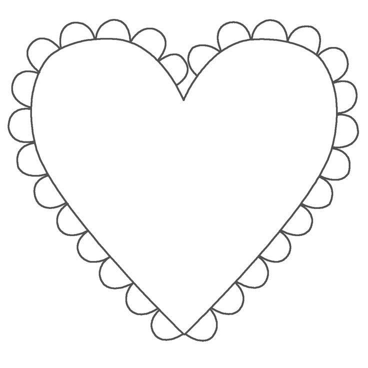 Heart Image Coloring Page For Valentines Day