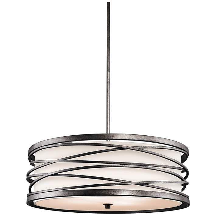 "Kichler Krasi 24"" Wide 4-Light Warm Bronze Pendant Light - #2F651 | Lamps Plus"