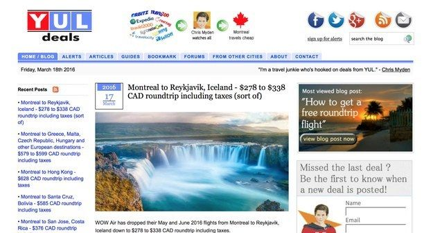 Montreal: YUL Deals | 10 Discount Travel Sites Every Canadian Should Know About