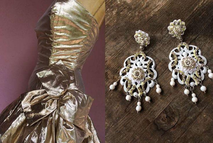 Abito Vintage Recycled LOLA DARLING - Orecchini AC Bijoux
