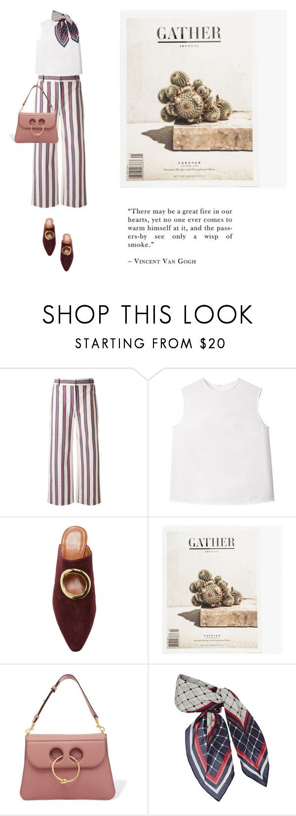 """""""Untitled #2210"""" by yenybarriot on Polyvore featuring Tory Burch, Neous, J.W. Anderson and Tommy Hilfiger"""