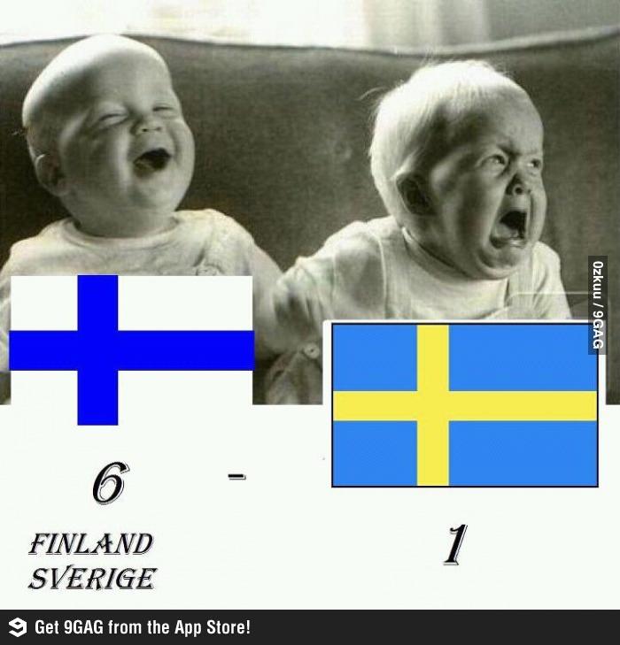 Finland 6 - 1 Sweden
