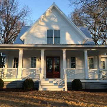 "My husband and I are planning a build next year and I was hoping for input on Mitchell Ginn's ""Four Gables"" plan. We are looking for a classic farmhouse feel and I love the porches on this one. We would like to put it on a basement though, and I wonder if it is worth it to take away from t..."