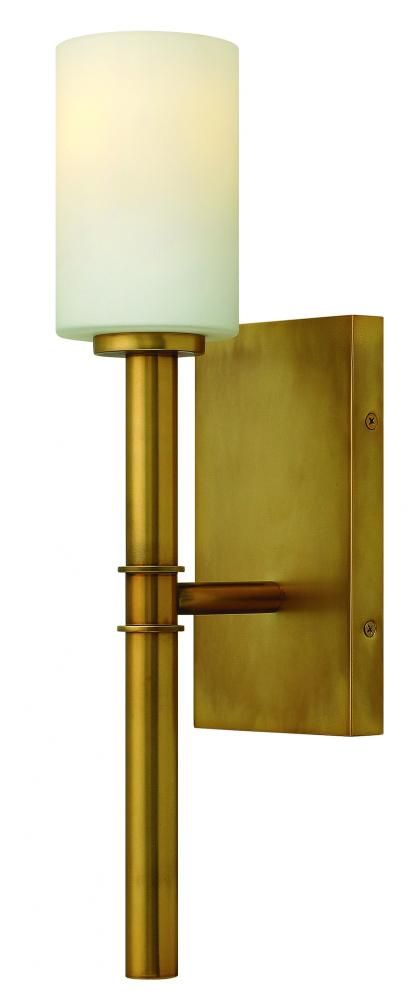 "Pego Lamps in Miami FXQ9, One Light Brass Wall Light, Margeaux, Brass - Vintage Brass 4.5""W 17.5""H $89"