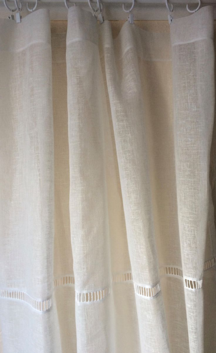 White lace bedroom curtains - Tall Ivory Sheer Linen Lace Curtain Bedroom Panel Cream White Natural