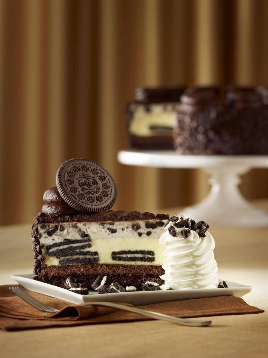Decadent, mouth-watering fudge cake, Oreo cookies baked into creamy cheesecake from the Cheesecake Factory, silky smooth Oreo cream mouse, and milk chocolate icing topped with what else but an Oreo wafer... Ladies and Gents, introducing the ultimate Oreo-lovers dream--our new Oreo Dream Extreme Cheesecake! Available on National Cheesecake Day, July 30th!