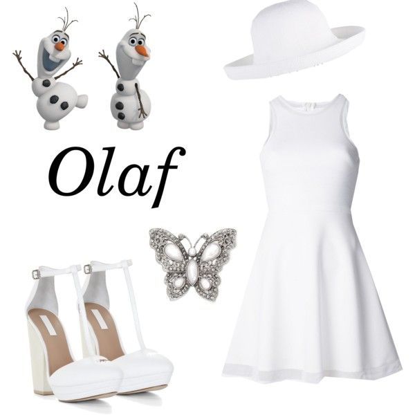 """Olaf from Frozen Inspired Outfit"" by constancesimmo on Polyvore"