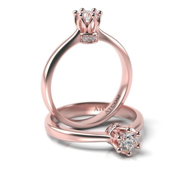 Inel de logodna Andreus cu diamante din aur roz