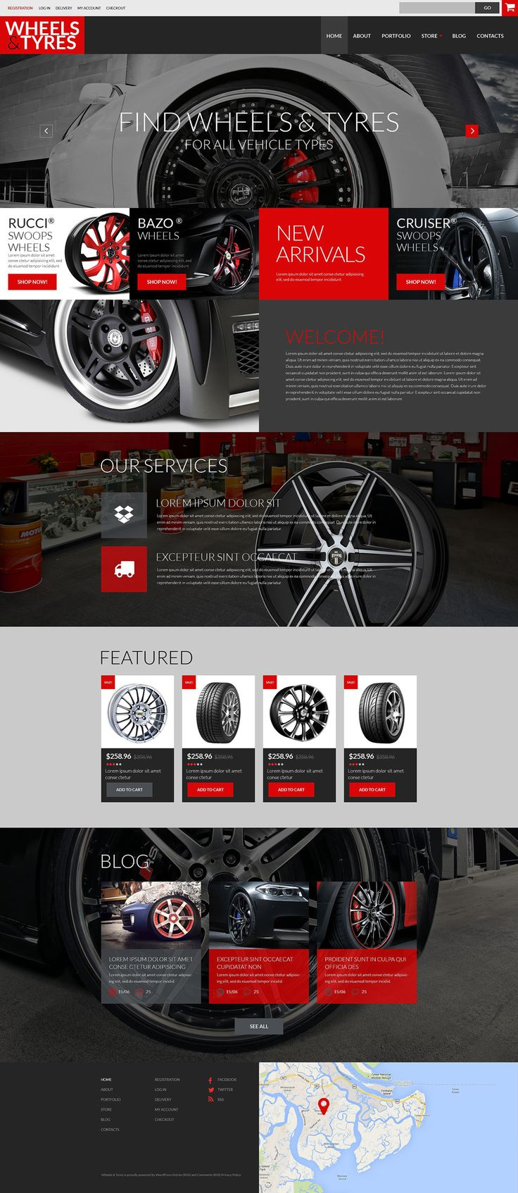 Car parts accessories woocommerce theme