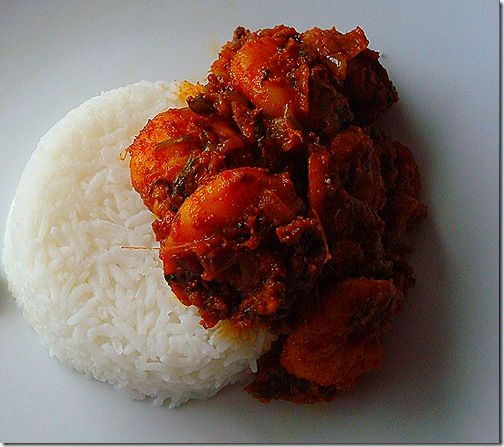 Spicy shrimp curry - Andhra style