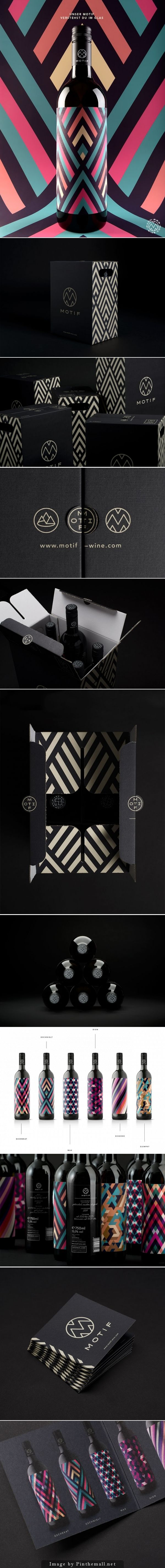 Motif #Wine #packaging #design, Creative Agency: EN GARD - http://www.packagingoftheworld.com/2014/10/motif-wine.html
