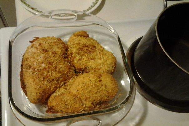 Baked Parmesan Crusted Chicken Breast. Photo by Tiggies2011