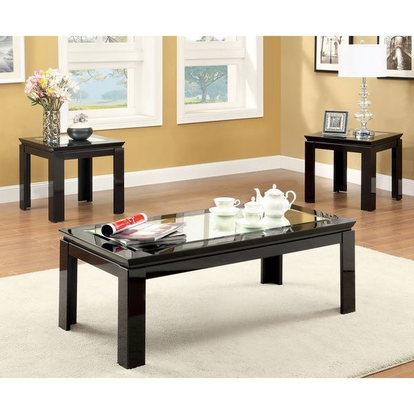 Furniture of America Morinthe 3-piece High Gloss Black Coffee and End Table  Set - 25+ Best Ideas About Black Coffee Table Sets On Pinterest Rustic