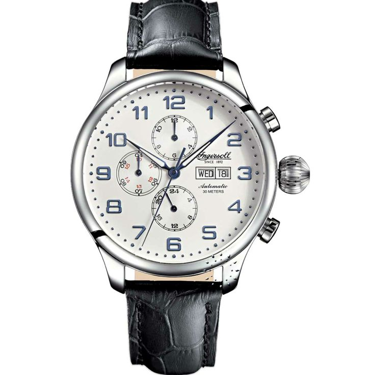 INGERSOLL Automatic APACHE Black Leather Strap Model:IN3900SL