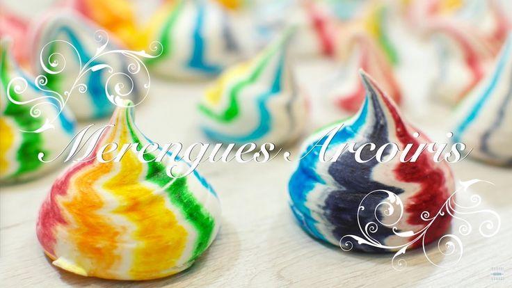 Merengues o Suspiros Arcoiris | Merengues de Colores | Suspiros de Color...