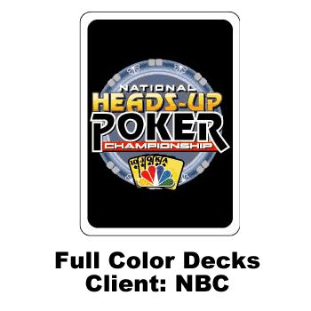 Custom Full Color Playing Cards - NBC