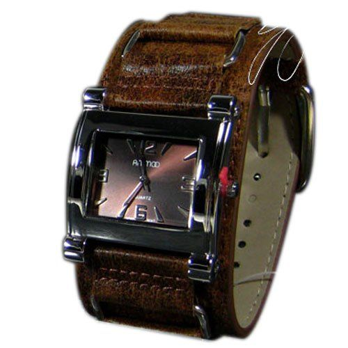 Damenuhr Leder in Braun Silber Retro Designer Uhr Trend Watch - http://on-line-kaufen.de/animoo/damenuhr-leder-in-braun-silber-retro-designer-uhr