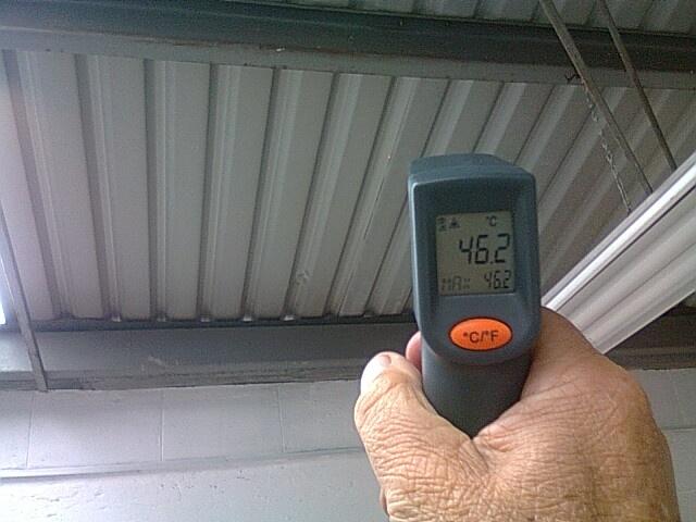 Temperatura antes de Aplicar Recubrimiento Aislante Termico