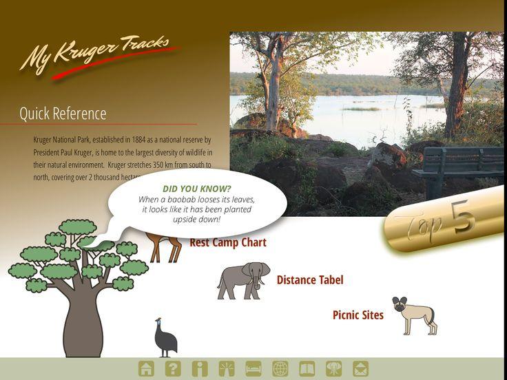 Quick Reference page from Kruger Tracks app #krugertracks