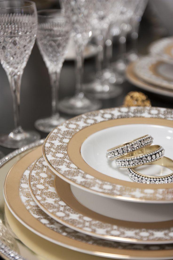 """Heaven"" Porcelain #RealClassic #GreenApple #GAhomestyle #homestyle #Porcelain #LimogesPaste #Gold #TableWare"