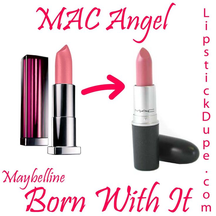 MAC Angel dupe Maybelline Born With It #dupe #dupes #lipstickdupe #macdupe www.lipstickdupe.com