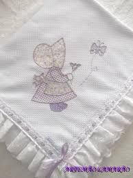 Resultado de imagen para manta bordadas para bebe