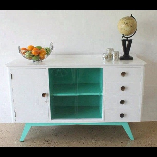 Follow us on Facebook for more terrific furniture rescues - http://www.facebook.com/NothingButVintage  This stunning sideboard has been reworked & we have now found it a new home; love giving 1950s furniture a new lease on life!