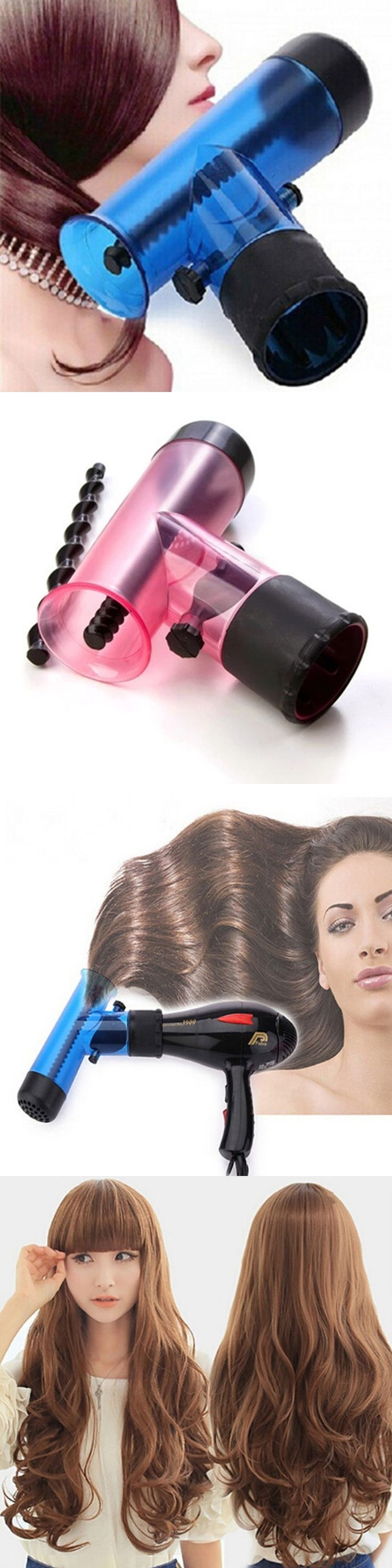Hair Dryer Diffuser Magic Wind Spin Curl Hair Salon Styling Tools Hair Roller Curler Make Hair Curly  0502 Without Damage