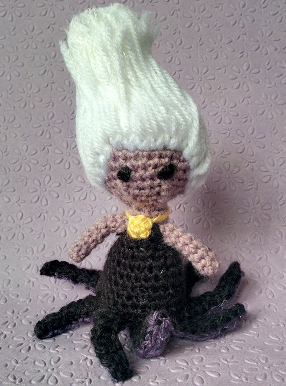 Ursula from the Little Mermaid Amigurumi by NeedleWithThread