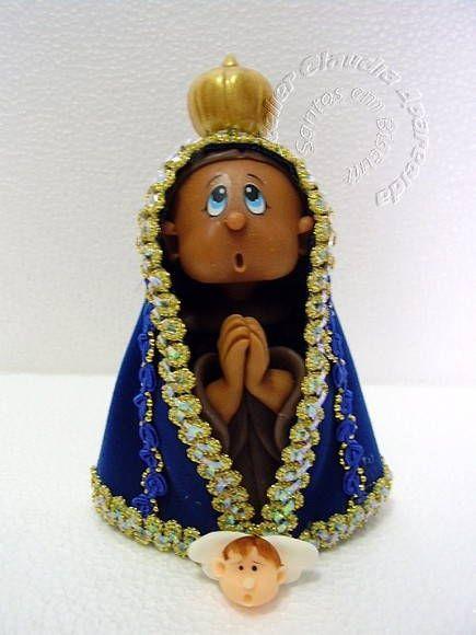 Nossa Senhora Aparecida (pequana) | Atelier Claudia Aparecida | 166D7E - Elo7