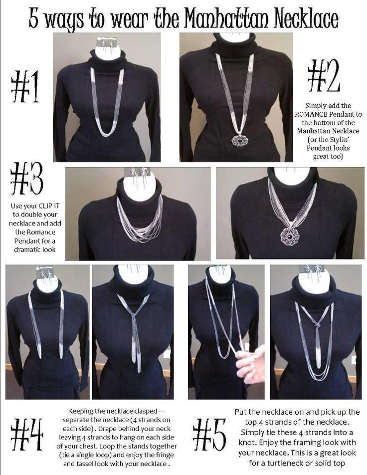 5 ways to wear the Manhattan Necklace by  Premier Jewelry! Look at how fun and how many looks you can get with just one necklace!?