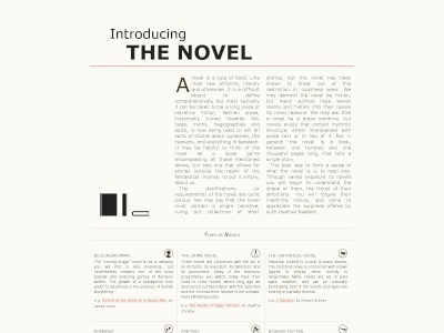 Introducing The Novel