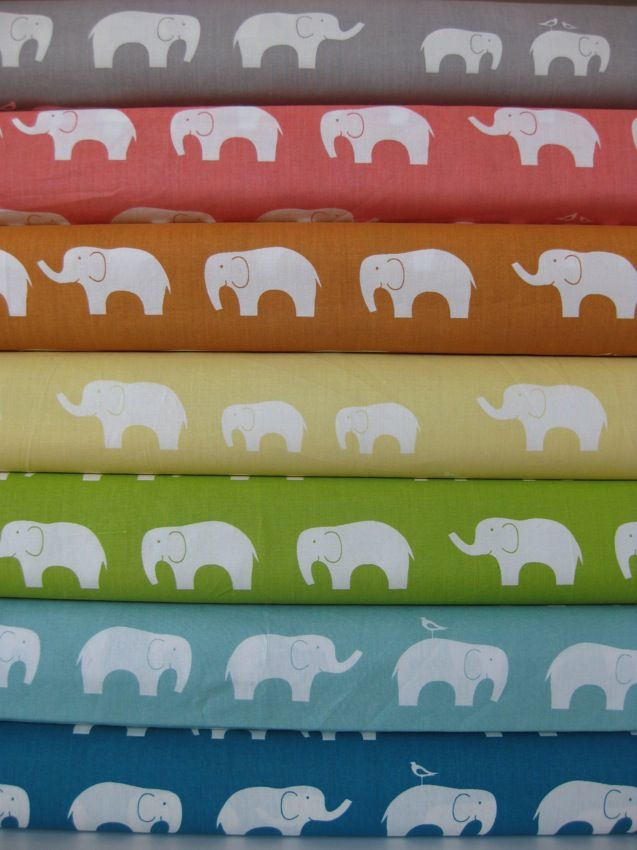 I'm obsessed with elephants!!!! The baby's room is going to be vintage circus themed!!! :)) (LOVE this organic fabric!!)