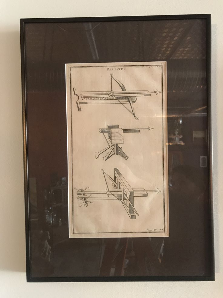 """Balistes"" 18th century copperplate engraving, framed"